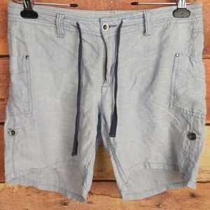100% linen Horny Toad chambray shorts